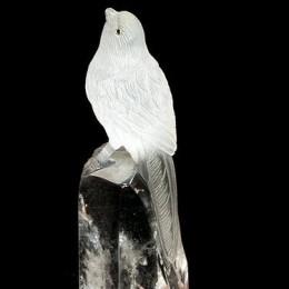 Птичка из горного хрусталя, h=12 см
