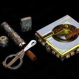 Набор для сигар Викинги (серебро, камни)