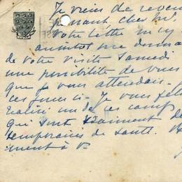 Пьер де Кубертен (письмо с автографом)