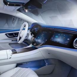 Новый электрический седан от Mercedes EQS с огромным экраном