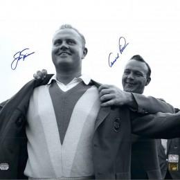 Фотография с автографом Арнольда Палмера и Джека Никлауса