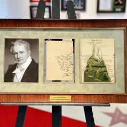 Александр Фон Гумбольдт (письмо с автографом)