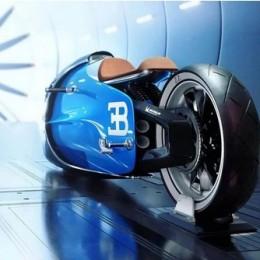 Концептуальный мотоцикл Bugatti задуман, чтобы побить рекорд по скорости