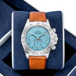 Редкие часы Rolex Zenith Platinum Daytona с циферблатом из бирюзы проданы на аукционе в шесть раз дороже