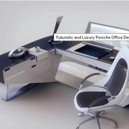 Футуристичный и роскошный офисный стол от Porsche