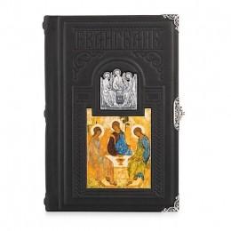 Евангелие «Троица» (телячья кожа, серебро, циркон)