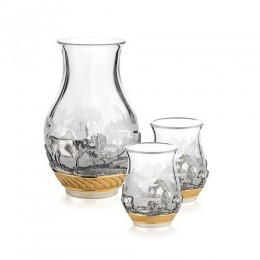 Крынка со стаканами «Наша ферма»