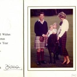 Автограф принца Чарльза и принцессы Дианы (на открытке)