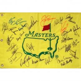 Автограф чемпионов «Мастерс» (флаг с автографами 26-ти чемпионов по гольфу)