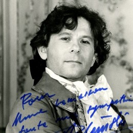 Автограф Романа Полански (на фото)