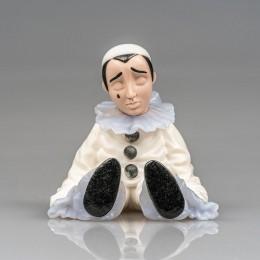 Фигурка Пьеро (h=6 см, серебро, драг камни)