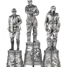 Рюмки «Советские лётчики» (h=10 см., серебро)