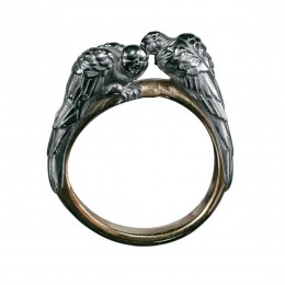 Кольцо Попугаи – неразлучники (серебро)