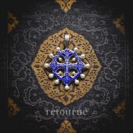 Крест наперстный (жемчуг, серебро, эмаль)