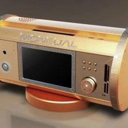 Золотой компьютер со стразами Swarovski Signature Jewelry