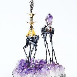 Ювелирная скульптура слоны Дали