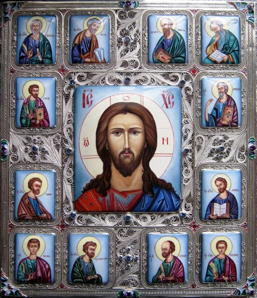 """Икона """"Иисус Христос с апостолами"""""""