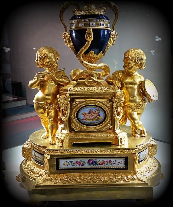 Французские каминные часы 19 века