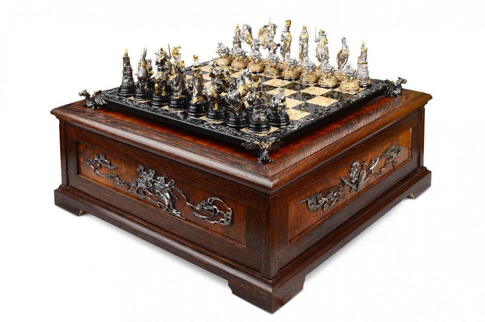 Шахматы Германские (серебро, камень)