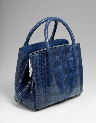 12268bc9271c Сумка из кожи крокодила синяя фирмы Tardini. Обувь и сумки luxury ...