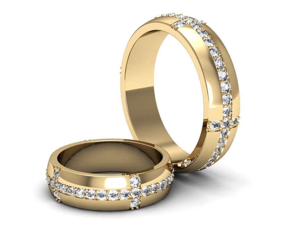 Классическое кольцо с бриллиантами