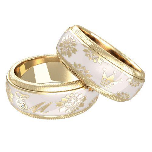357fe1eaca54 Эксклюзивные кольца   с вашими монограммами в золоте обручальные ...