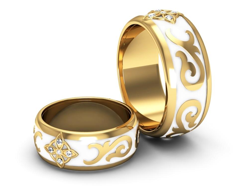 Кольцо с эмалью Венеция