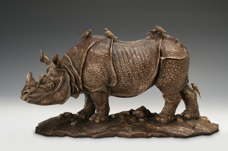 "Скульптура ""Носорог"" (бронза, 50 см)"