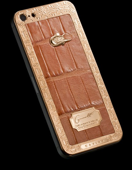 iPhone 5s Unico Alligatore Sabbia d'Oro