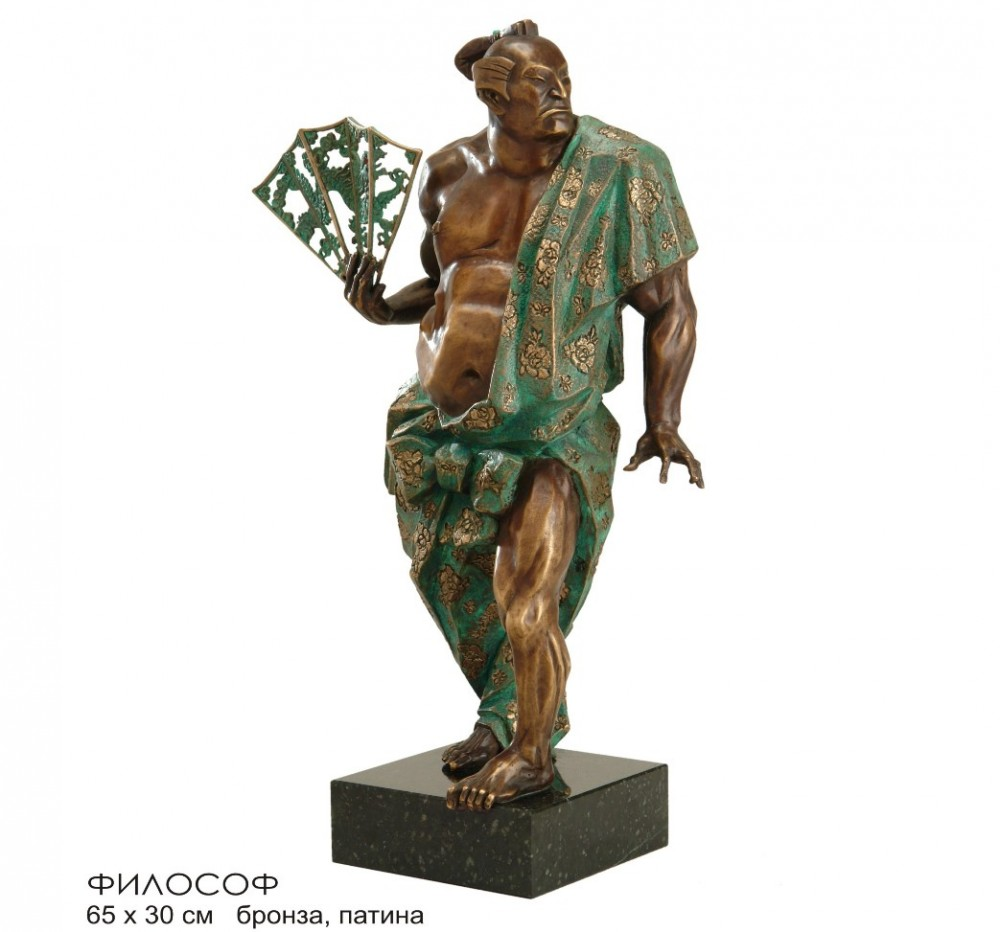 Скульптура Японский философ (бронза, высота 64 см)