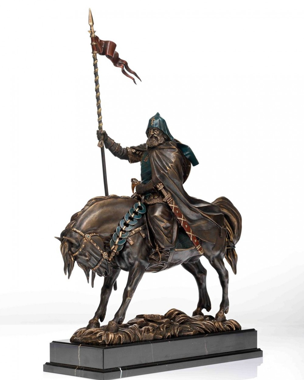 Композиция Воин-монах Пересвет (бронза, h=50 см)