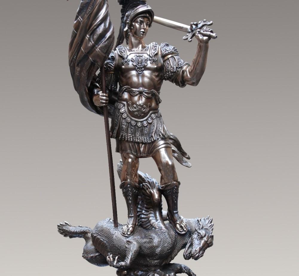 Георгий Победоносец на драконе (бронза)