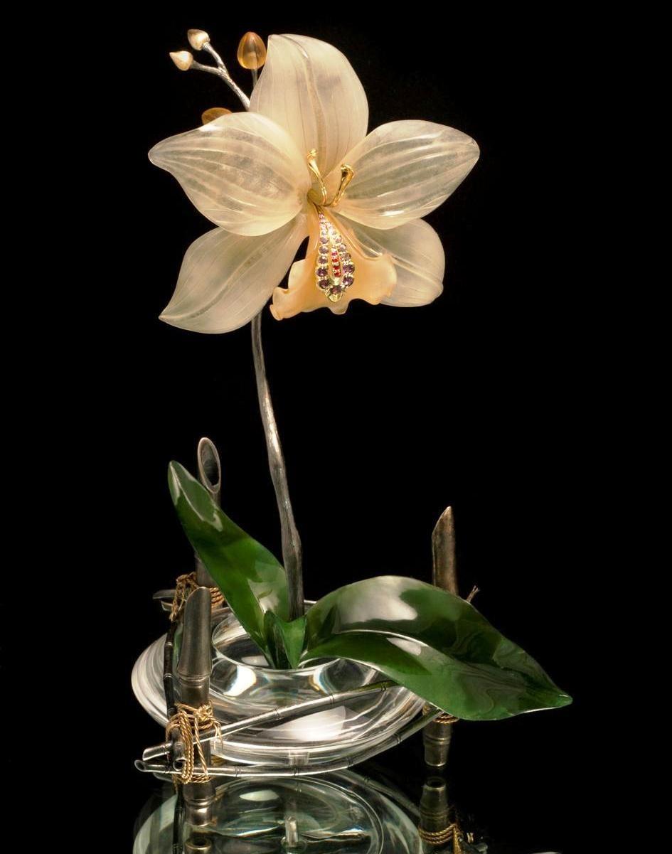 Цветок из камней фото