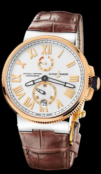 Ulysse Nardin Maxi Marine Chronometer Manufacture сталь-золото