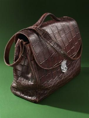 Мягкий портфель из кожи аллигатора
