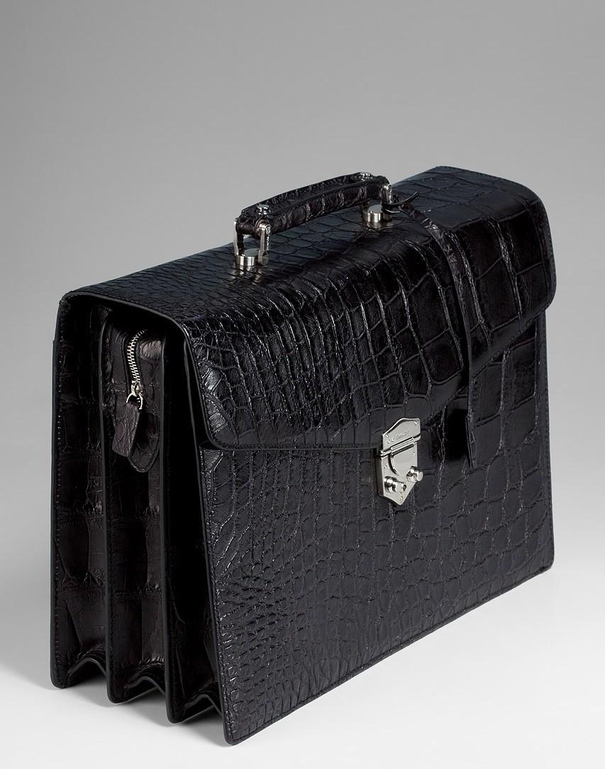 Классический портфель из аллигатора Tardini