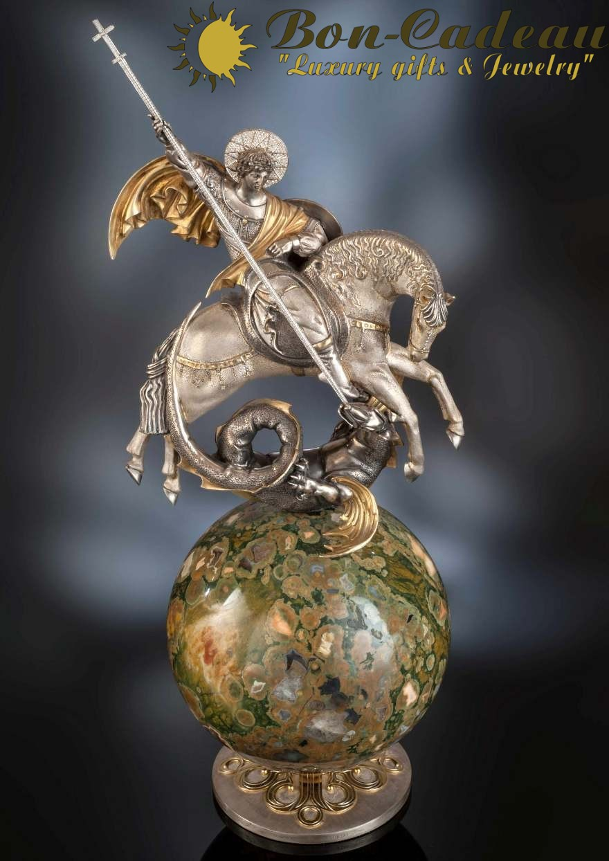 Ювелирная скульптура Георгия Победоносца