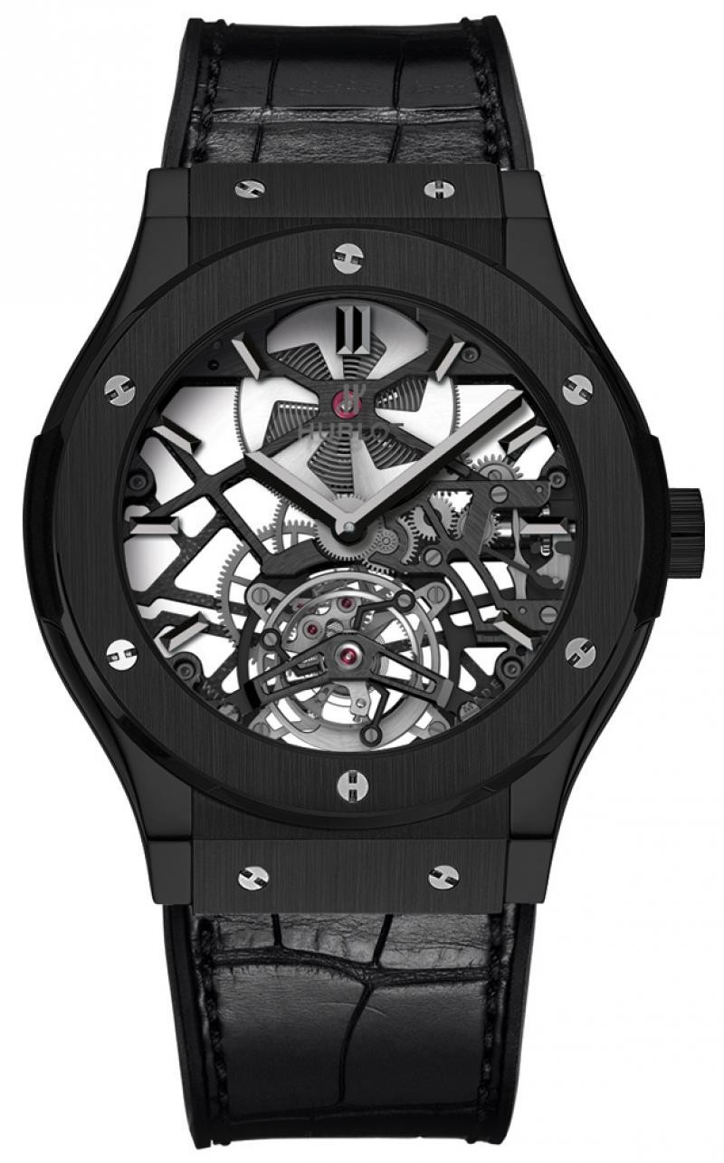 Hublot Big Bang 44mm Skeleton Tourbillon Black Ceramic