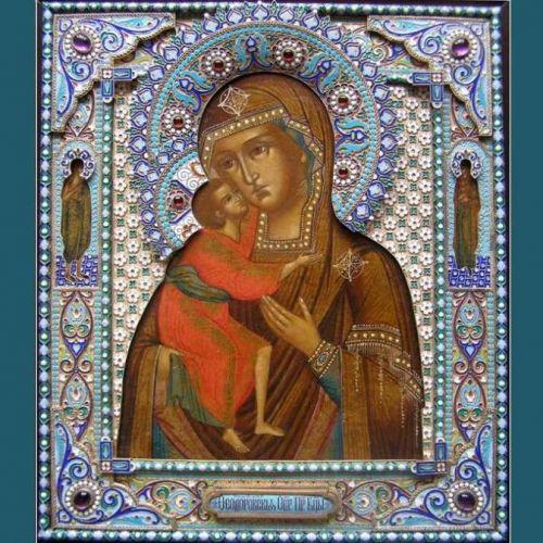 Золотая икона Божией Матери Феодоровская