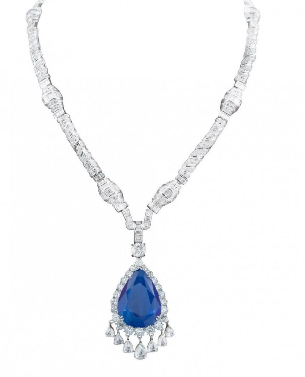 Бриллиантовое ожерелье Сапфир