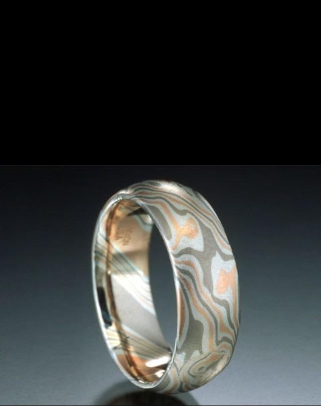 Кольцо Mokume (золото и палладий)