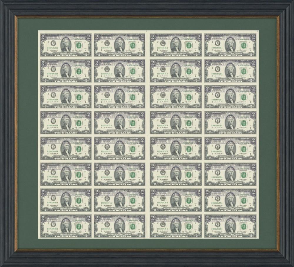 Лист 2 USD 32 штуки