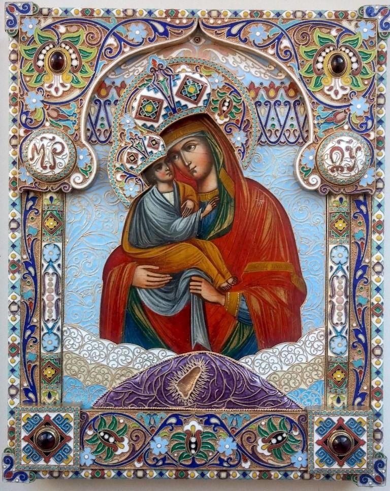 Почаевская икона божьей матери (19 век)