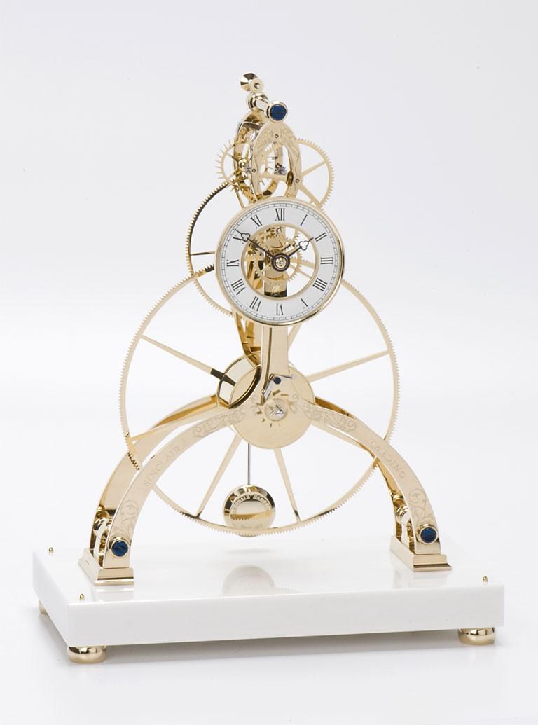 Great Wheel Skeleton Clock