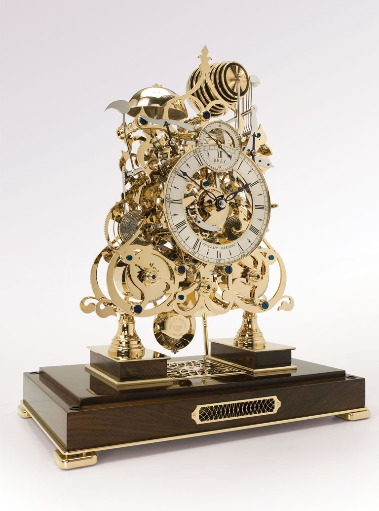 3 Train Skeleton Clock