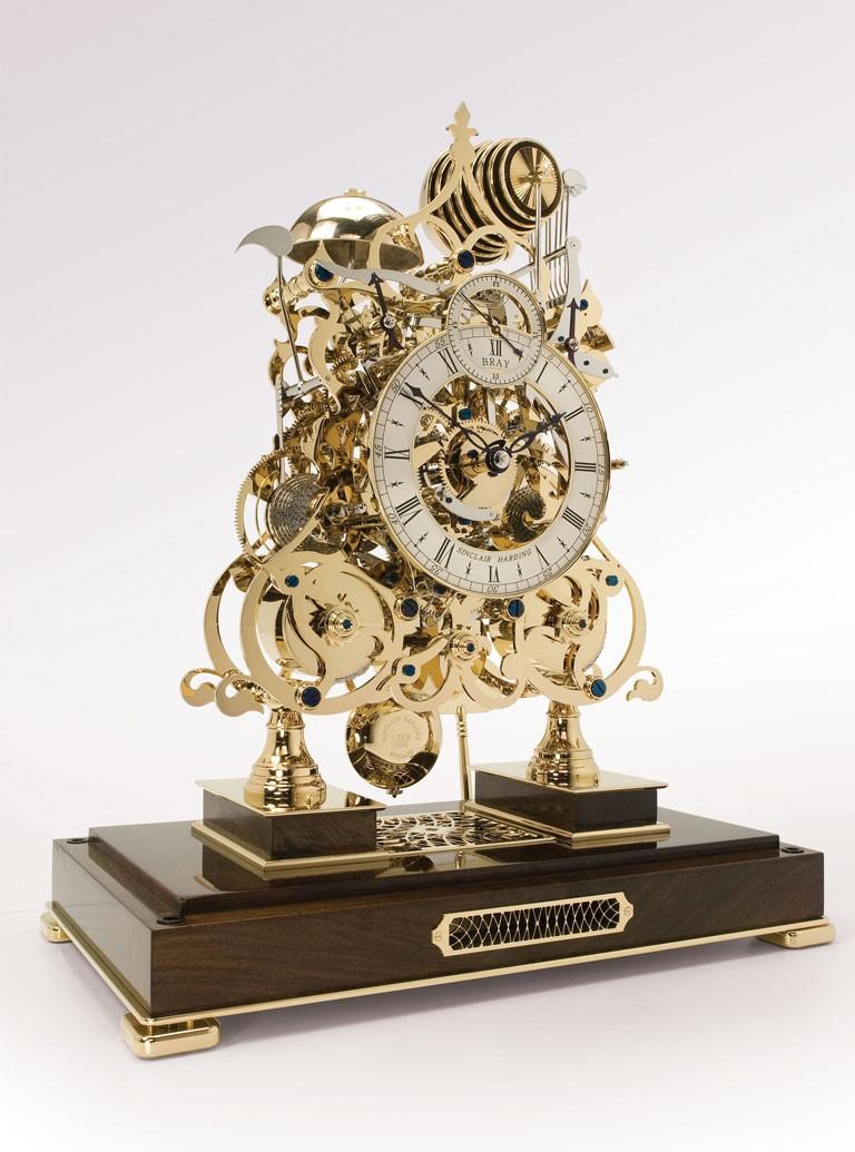 3 Train Skeleton Clock