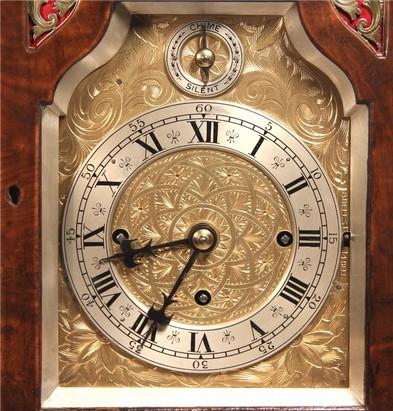 8 Bell Chiming Bracket Clock Mahogany/Walnut case