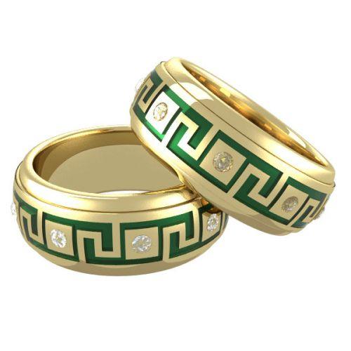 Кольца из коллекции «Меандр»