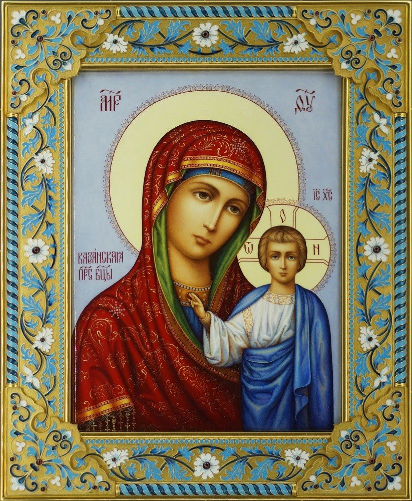 Казанская икона с гранатами