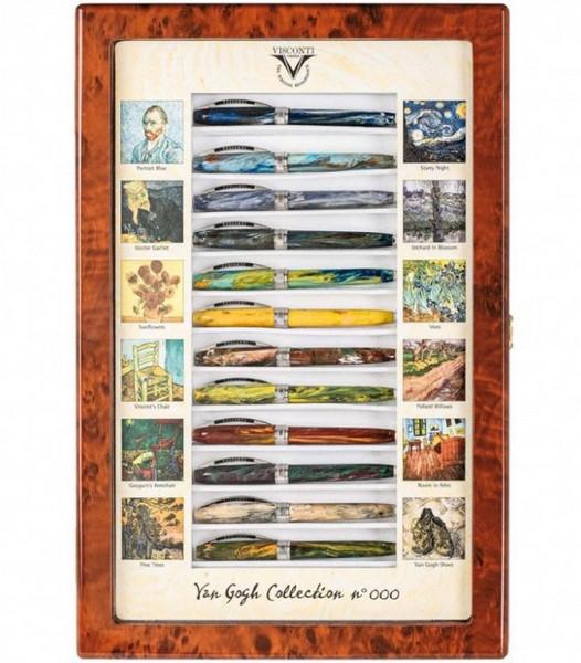 Набор ручек Visconti Van Gogh перьевые 12шт в шкатулке корпус 18гр перо сталь